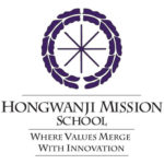 "purple wheel with ""Hongwanji Mission School: Where Values Merge with Innovation"""