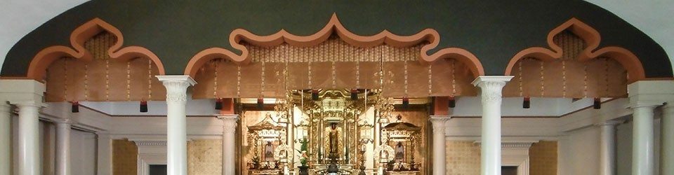 cropped view of the main altar