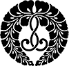 The wisteria crest, Jodo Shinshu logo