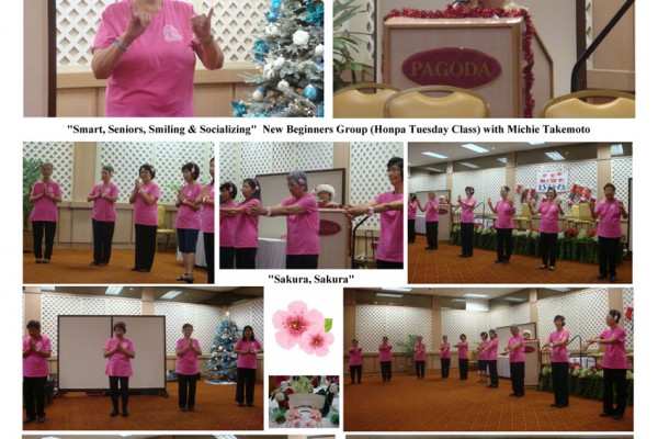 photo collage of participants in pink shirts