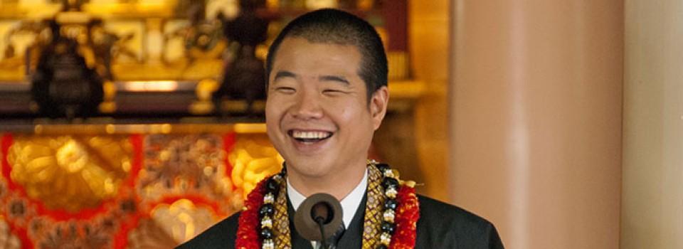 a smiling Rev. Jay Okamoto