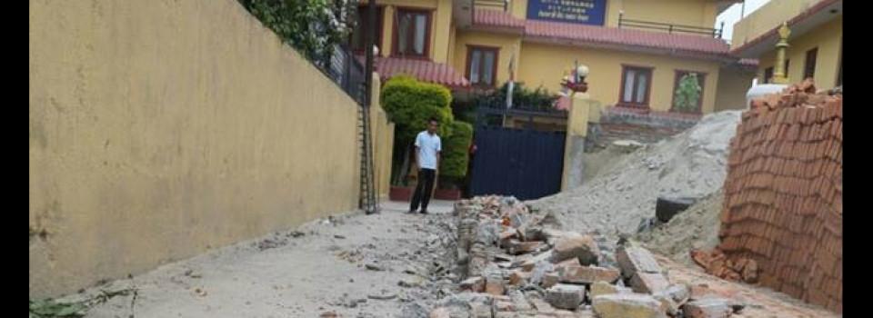 Hongwanji Nepal and quake damage