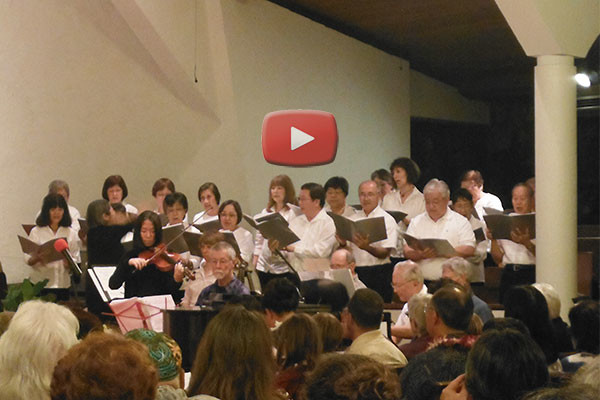 Betsuin Choir sings at Community Church