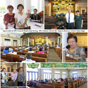 photo collage of meeting