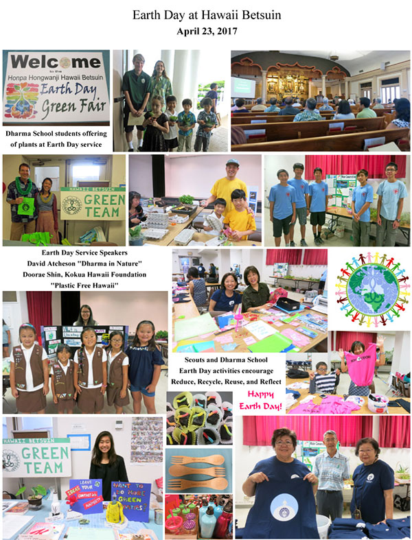 Earth Day at Hawaii Betsuin 2017 – collage 1 of 2