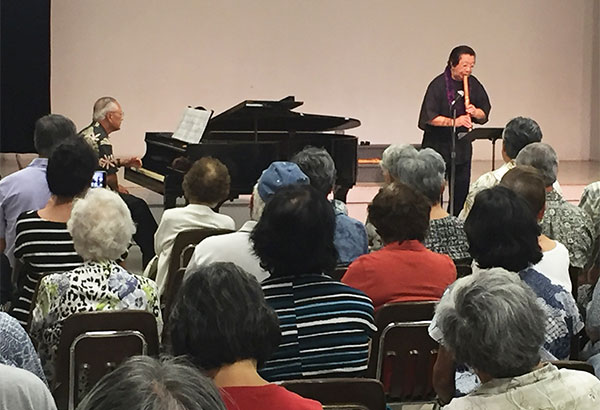 Shakuhachi concert with Miyoshi Genzan on July 30, 2017