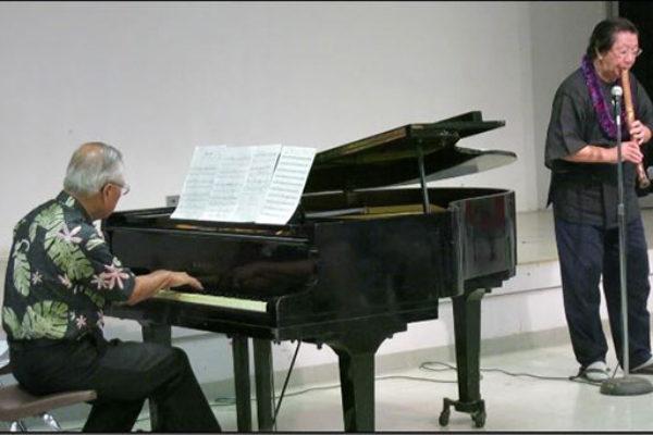 Francis Okano at piano and Miyoshi Genzan on shakuhachi flute