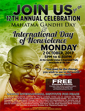 Gandhi Day 2017 flyer image