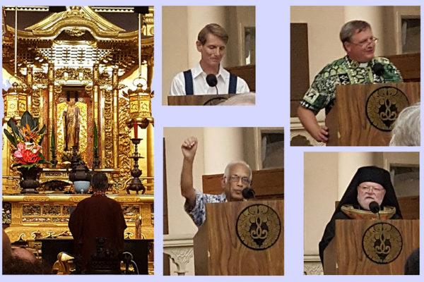 photo collage - Bishop Matsumoto, Rudiger Ruckmann, Harendra Panalal, Rev. Timothy Mason, Bishop Randolph Sykes