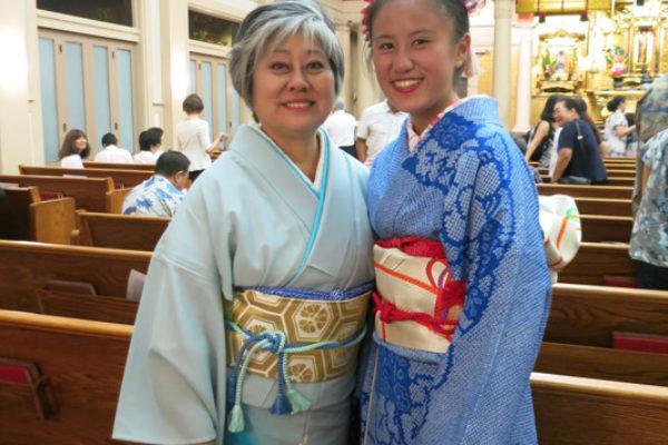 Sheree and Sheera Tamura in kimono