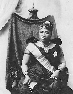 Queen Liliuokalani in a black dress Hawaiian Monarchy Hawaii