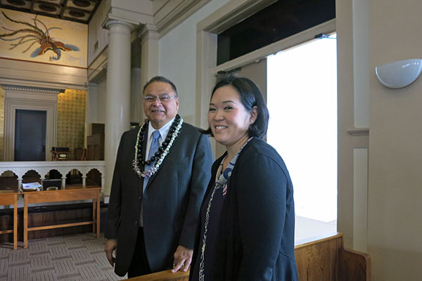 Rev. Sherman Thompson and Betsuin ED Stacy Bradshaw (Queen Liliuokalani Tribute)