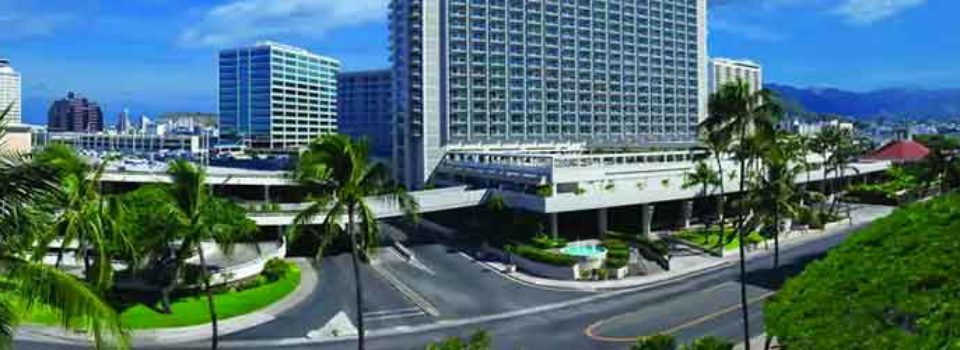 Ala Moana Hotel and palm trees