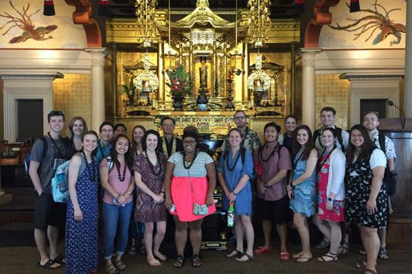 Pacific Lutheran University student visit - hondo