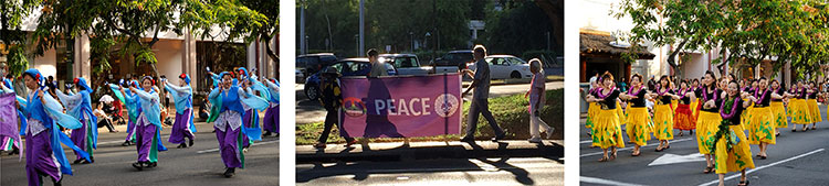 "Pan-Pacific Parade (HHMH to ""Walk in Peace"") @ Waikiki: Fort DeRussy to Kapiolani Park"