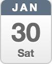January 30 Saturday calendar icon